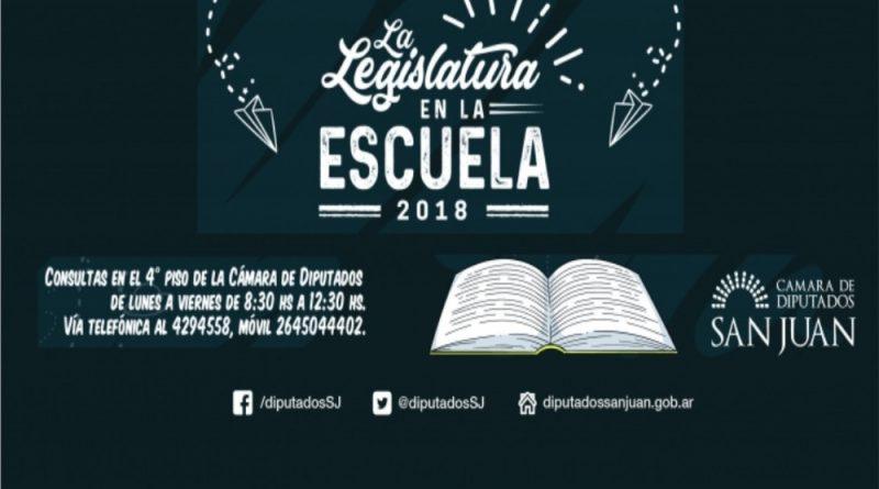 """Inscripciones Gratuitas para el Programa """"La Legislatura en la Escuela 2018"""""""