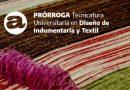 Prórroga en el inicio de la Tecnicatura Universitaria en Diseño de Indumentaria y Textil