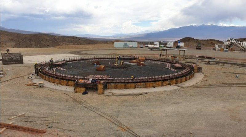 Continúa la etapa final de construcción de la base del Radio Telescopio Chino-Argentino