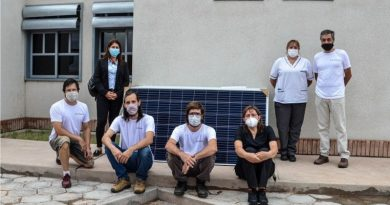 Llegaron los módulos fotovoltaicos para el Hospital de Albardón