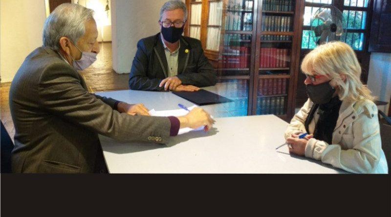 Se firmó un acta acuerdo de cooperación, asistencia e intercambio entre la FAUD de la UNSJ y el MyBCSDFS