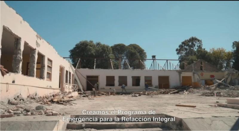 Continúan las refacciones integrales de los edificios escolares tras el terremoto del 18 de Enero en San Juan